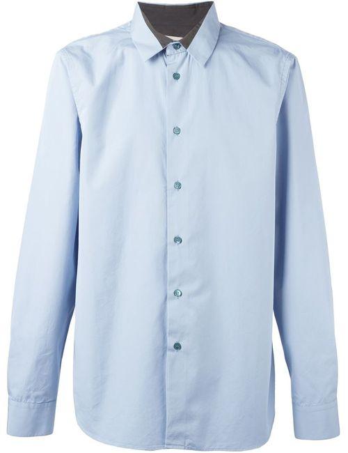 Marni   Men's Dark Blue Contrasted Detail Shirt