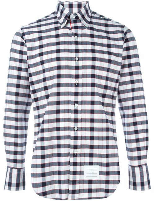Thom Browne | Men's Multicolor Checked Shirt