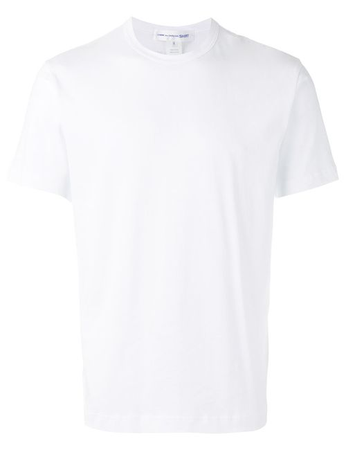 Comme Des Garçons | Men's White Shirt Back Logo Print T-Shirt Large