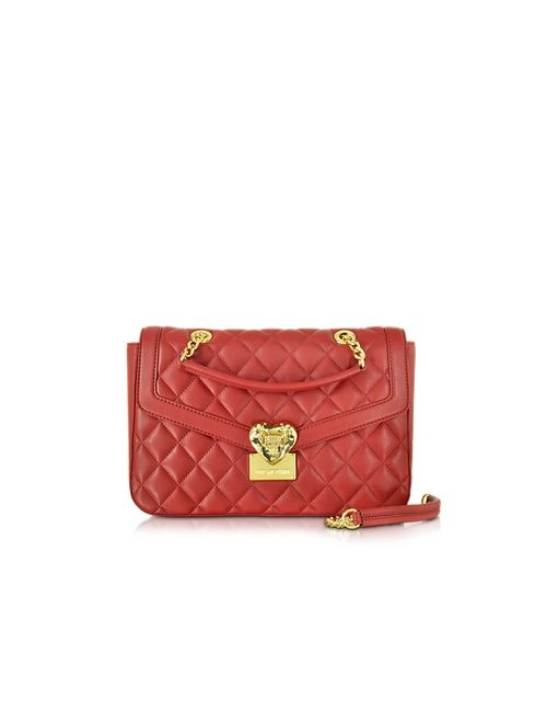 Love Moschino   Women's Red Quilted Shoulder Bag