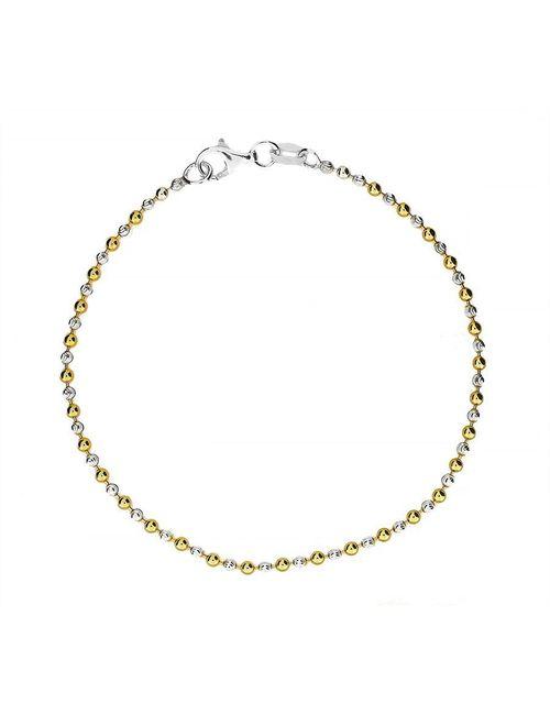Azendi   Women's Silver Gold Vermeil Bracelet