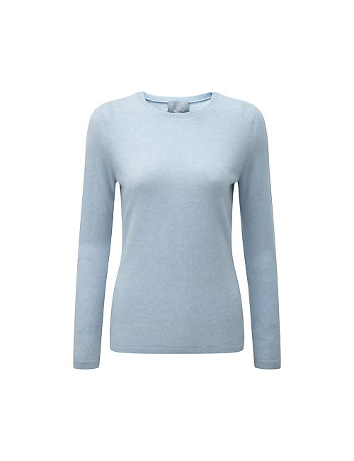 Pure Collection   Heather Sky Crew Neck Cashmere Jumper