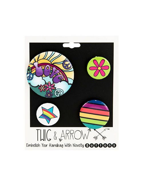 Twig + Arrow | Women's Love And Peace Pin Buttons