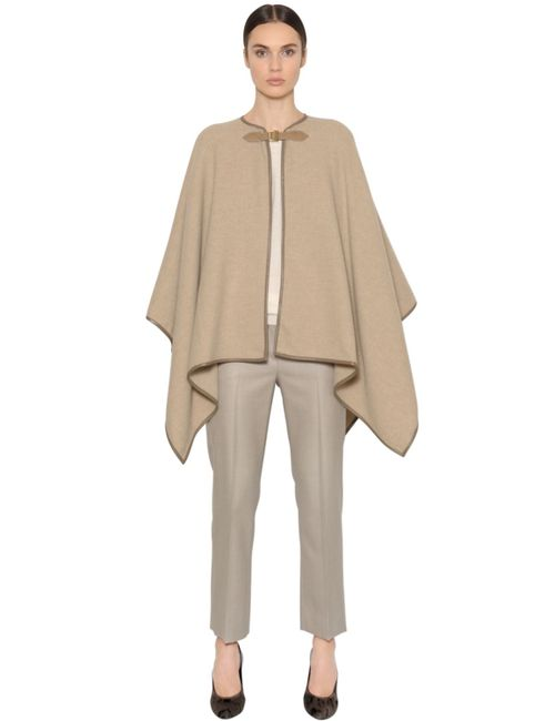 Max Mara | Women's Beige Double Wool Cloth Cape