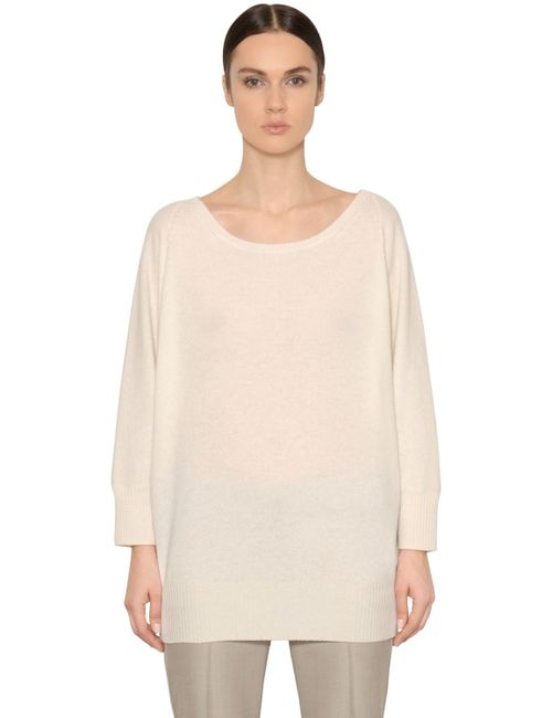 Max Mara | Women's White Cashmere Knit Sweater