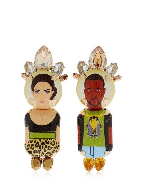 BIJOUX DE FAMILLE | Women's Multicolor Kim Kanye Clip-On Earrings