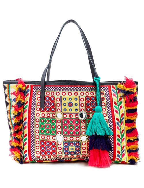 Figue | Women's Red Fara Embroidered Tote