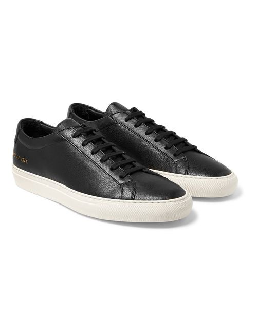 Common Projects | Black Original Achilles Grained-Leather Sneakers