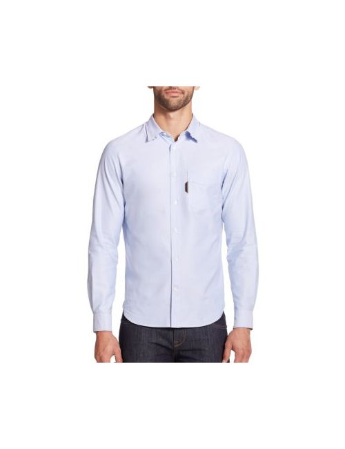 Faconnable | Sky Solid Cotton Sportshirt