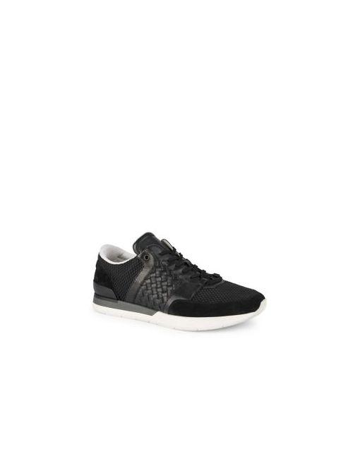 BOTTEGA VENETA | Men's Black Calfskin Woven Running Sneakers