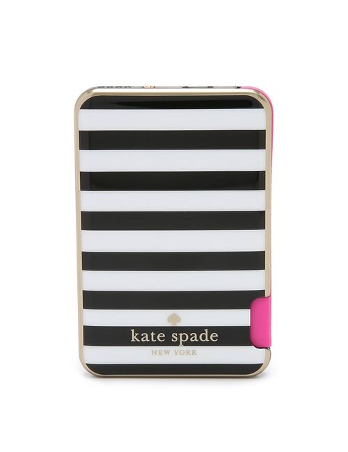 Kate Spade New York | Women's Micro Stripe Slim Iphone Battery With Cable
