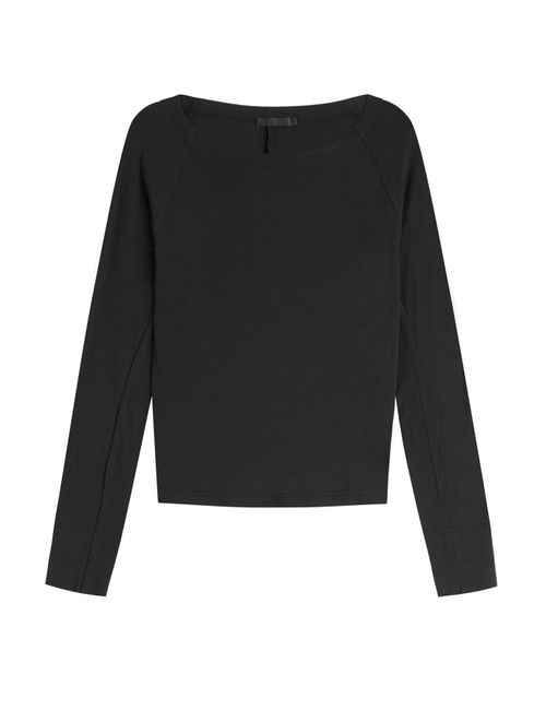 Donna Karan New York | Women's Black Long Sleeved Top Gr. L