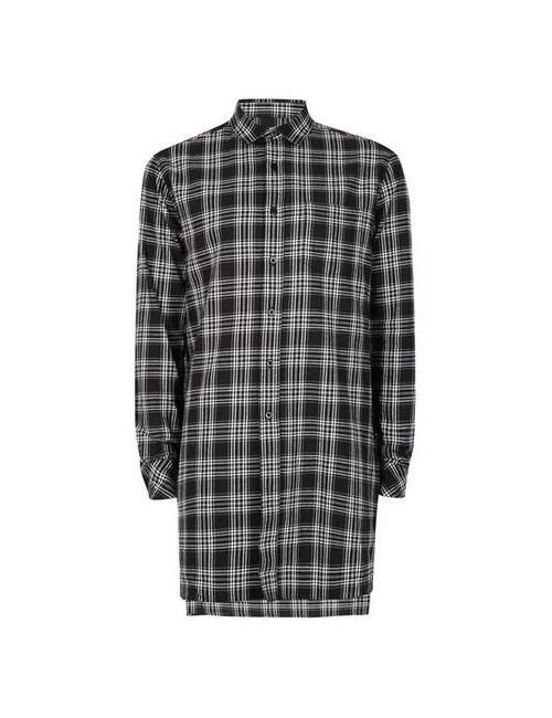 Topman | Men's Aaa Check Super Longline Shirt