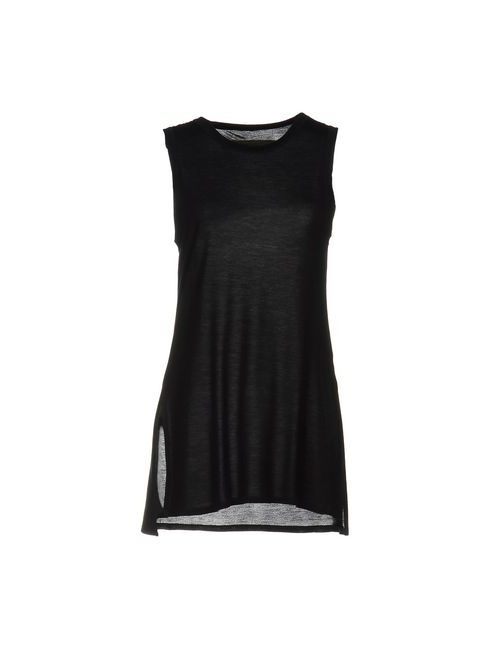 Enza Costa | Gray Topwear Vests On