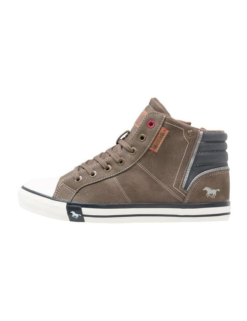 Mustang | Men's Brown Hightop Trainers Braun