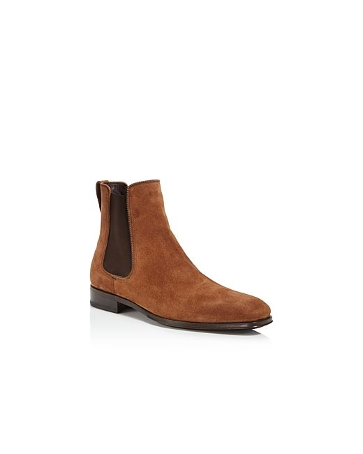 Salvatore Ferragamo | Men's Brown Darien Suede Chelsea Boots