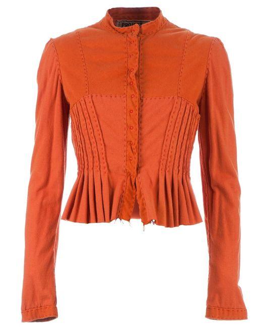 Projet Alabama | Women's Yellow Pleated And Cropped Jacket Medium