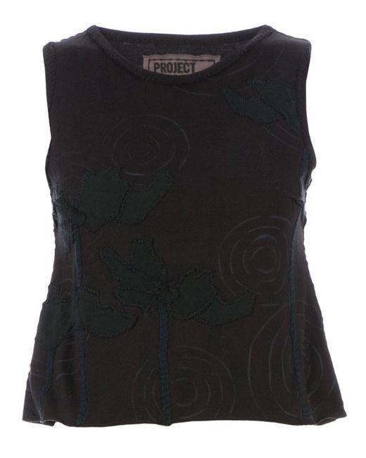 Projet Alabama | Women's Black Sleeveless T-Shirt