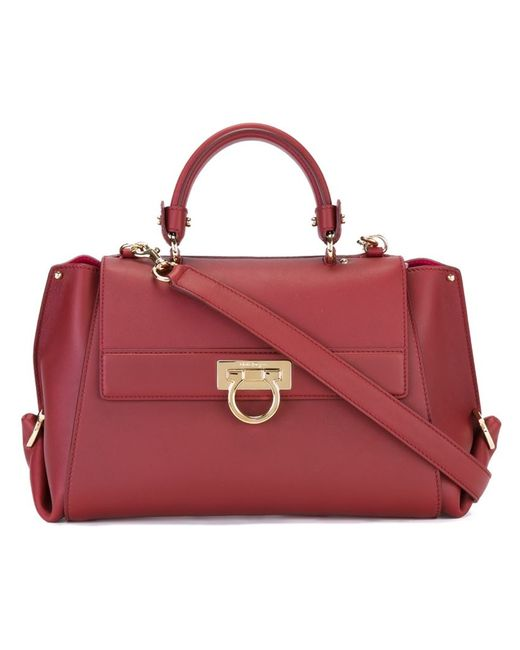 Salvatore Ferragamo | Women's Red Sofia Tote