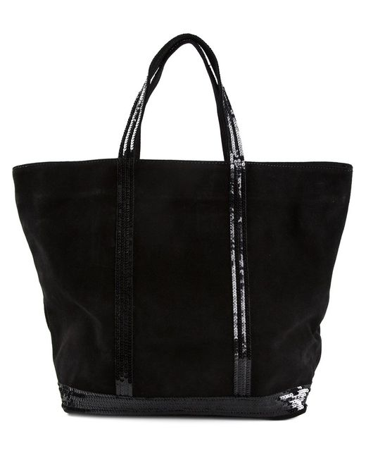 Vanessa Bruno | Women's Black Sequin Embellished Tote