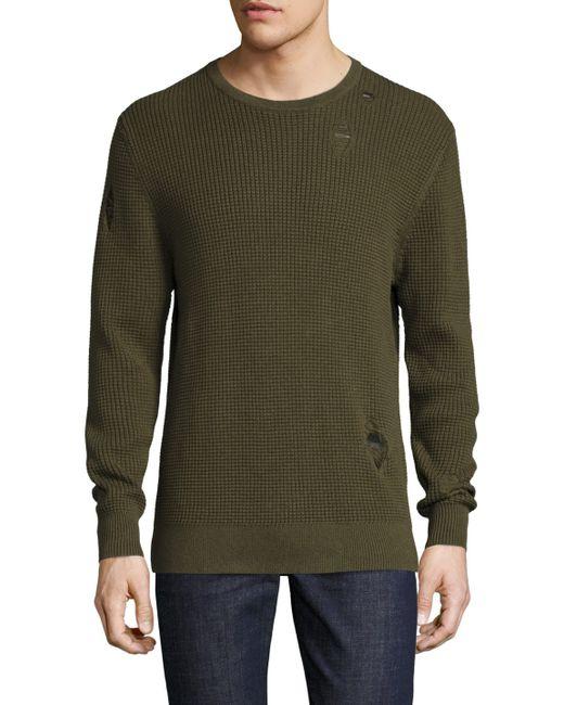 Zanerobe | Men's Waffle Knit Crewneck Sweater