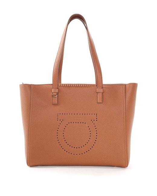 Salvatore Ferragamo | Women's Multi Marta Pebbled-Leather Tote Bag