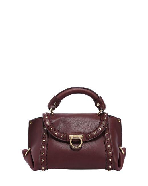 Salvatore Ferragamo | Women's Bordeaux Small Soft Sophia Top Handle Bag