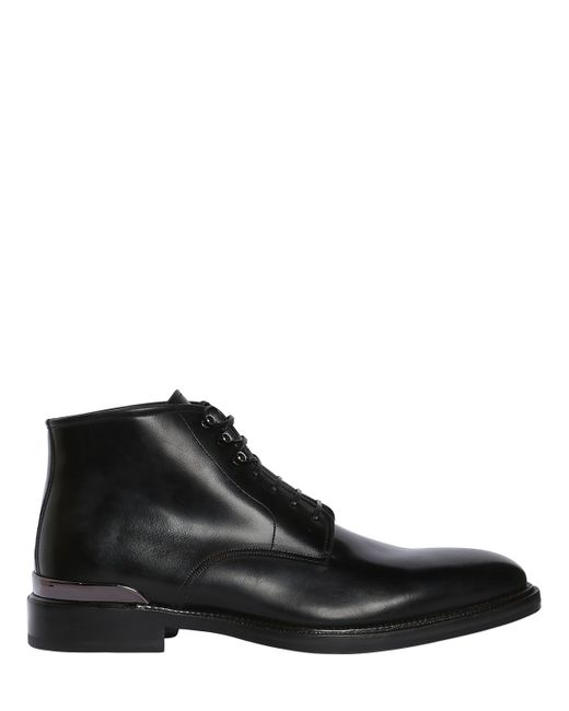 Salvatore Ferragamo | Men's Black Donny Sassettti Leather Boots
