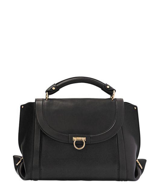 Salvatore Ferragamo   Women's Black Medium Soft Sofia Leather Top Handle Bag