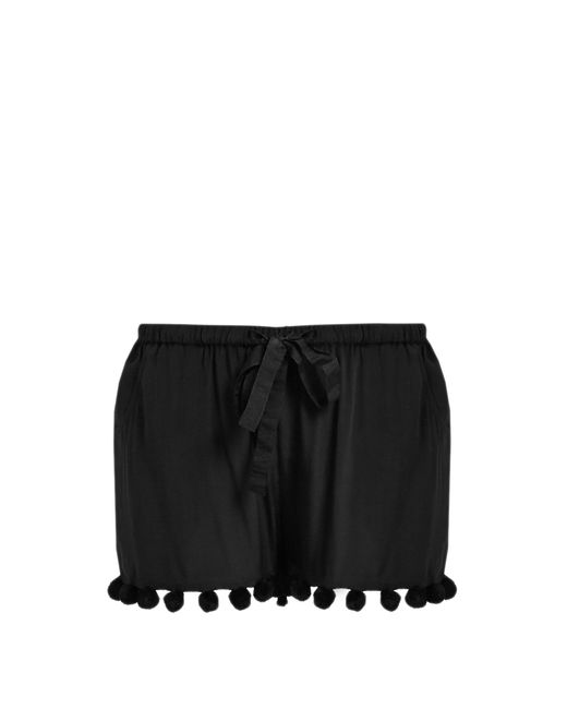 Figue   Maja Pompom-Embellished Silk Shorts