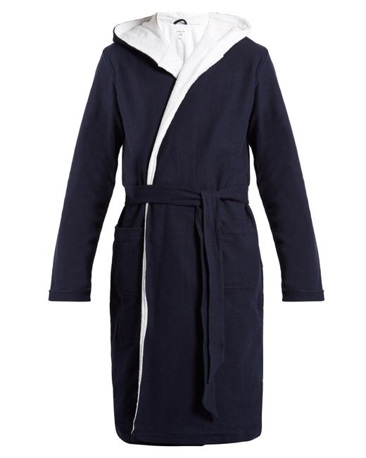 HAMILTON & HARE | Men's Navy Cotton Towelling Bathrobe
