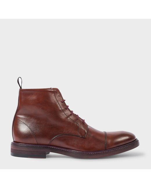Paul Smith | Men's Bordeaux Dip-Dyed Calf Leather Jarman Boots