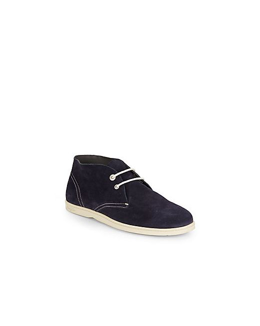 Salvatore Ferragamo | Men's Dark Blue Suede Chukka Boots