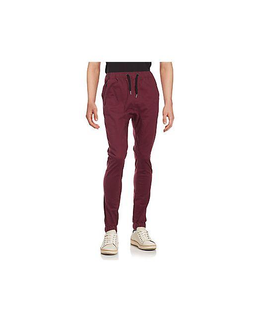 Zanerobe | Men's Burgundy Sureshot Solid Jogger Pants