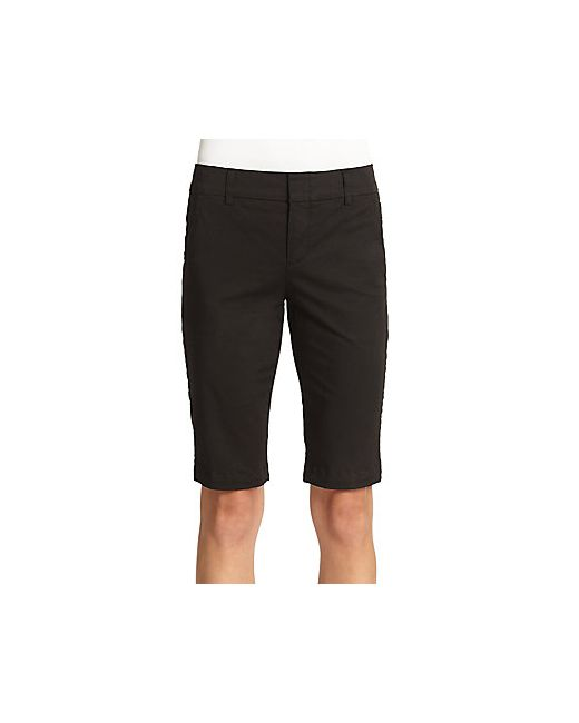 Vince | Women's White Side-Buckle Bermuda Shorts