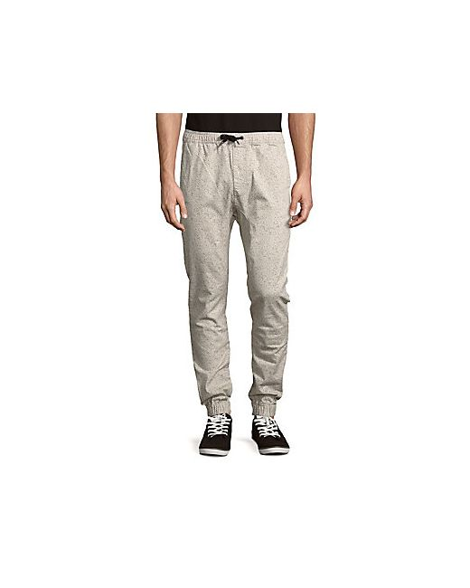 Zanerobe | Men's Taupe Speckle-Print Jogger Pants