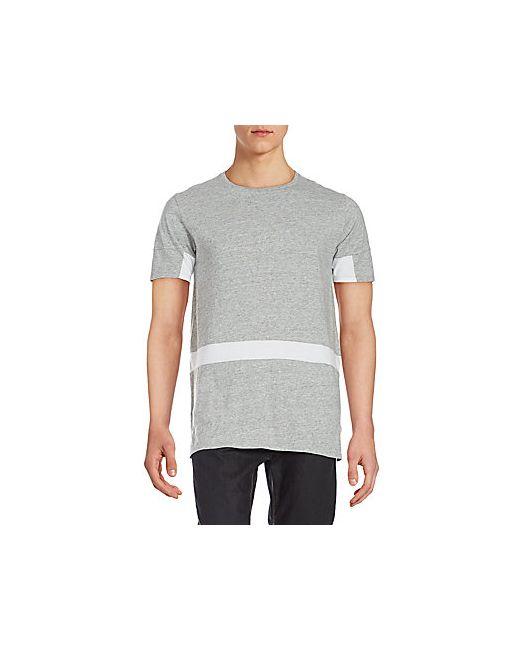 Zanerobe | Men's Gray Broken Flintlock Colorblock T-Shirt