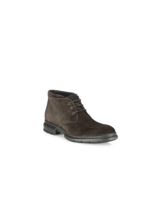 Salvatore Ferragamo | Men's Chocolate Gallagher Suede Lace-Up Boots