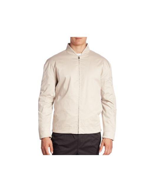 Zanerobe   Men's Beige Zip-Detail Bomber Jacket