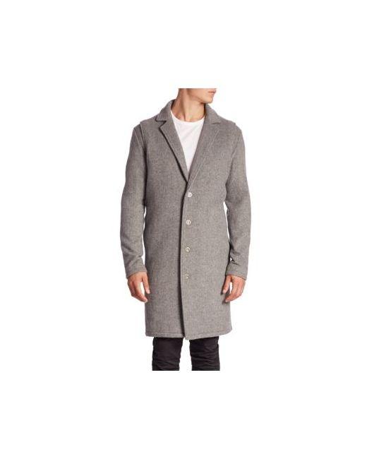 Zanerobe   Men's Gray Melton Wool Coat