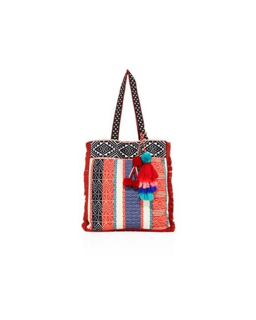 Figue | Women's Red Baja Canvas Tote