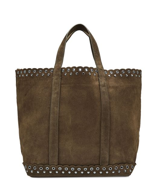 Vanessa Bruno | Women's Green Suede Tote With Eyelets Gr. One Size
