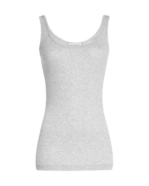 Vince | Gray Ribbed Tank Top With Cotton Gr. M