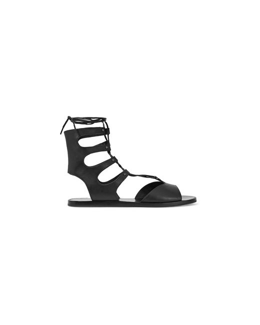 Vince | Women's Black Niva Lace-Up Leather Sandals